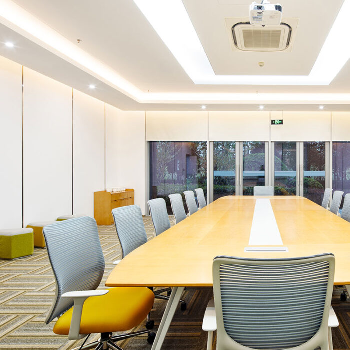 energy savings LED lighting installed in a place of business